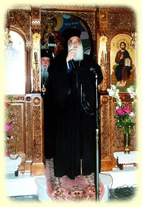 Patriarcha Jerozolimy Diodor w greckim starostylnym monasterze śww. Cypriana i Justyny.