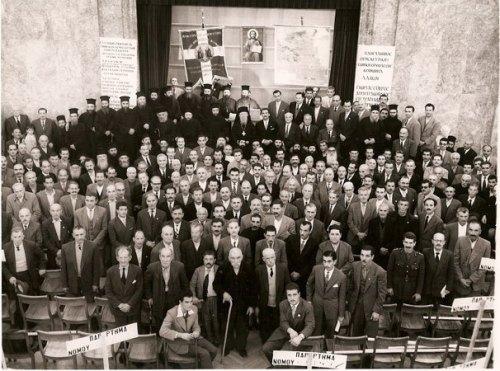Członkowie greckiego stowarzyszenia w obronie cerkiewnego kalendarza.